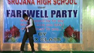 Dance performance in farewell party