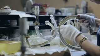 Production of bohemia crystal chandeliers