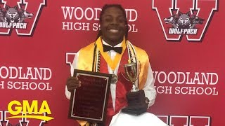 Teen makes history as school's first-ever African American male valedictorian