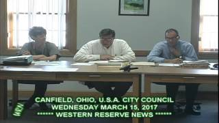 Canfield City Council 03-15-17 Dangerous Tree Thank You Letter