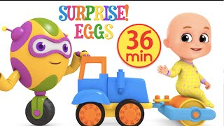 Kids Toys - Construction Truck Road Roller | Surprise Eggs Unboxing from jugnu Kids
