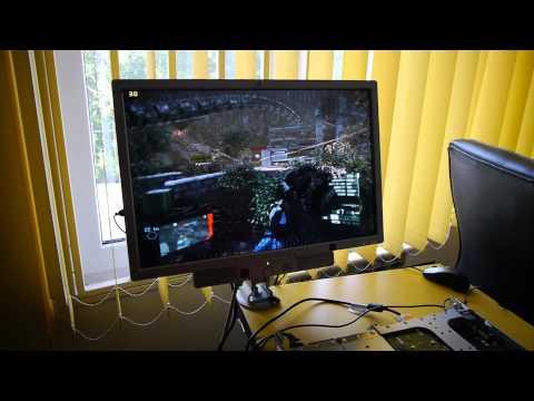 Crysis 2 on 2x 4-Core 1U HP server! (HP DL360 G5 + Quadro 2000)