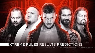 WWE Extreme Rules 2017 - Results Predictions