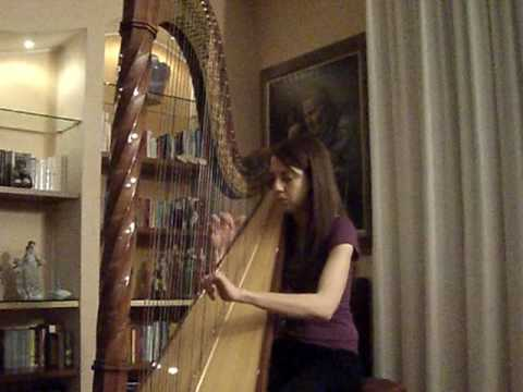 Bella's Lullaby official Twilight soundtrack Played with Harp