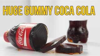 How to Make GIANT Gummy Coca Cola Bottle Shape Jelly Dessert Easy DIY Gummy Soda Jello