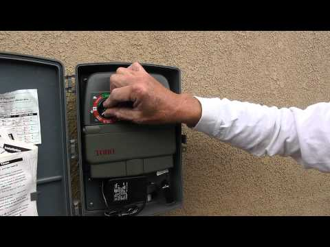 How to adjust your sprinkler control panel