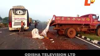 Two killed, 19 passengers hurt in separate road mishaps in Odisha