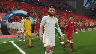   ليفربول و روما بيس 2018  تعليق عربي  PES 2018 Gameplay Liverpool VS Roma  