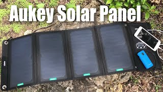 28W portable foldable Solar Panel Charger with USB ports by Aukey review