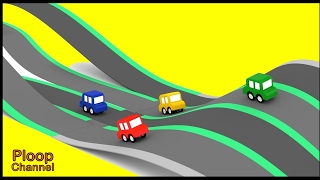 Cartoon Cars - TWISTY RACETRACK Cartoons for Children - Videos for Kids - Kids Cars Cartoons