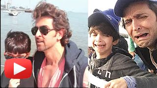 (VIDEOS) Hrithik Roshan's sons DARING Africa Vacation