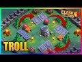 Clash Of Clans - Epic Troll Pieges & Trappes Avec Un Village De La Nuit Max ! 😆