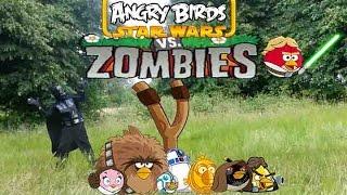 Real life Darth vader and Angry Birds VS Zombies- bowser12345