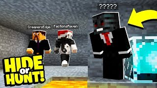 SOMEONE is HIDING in our SECRET Minecraft base! - Hide Or Hunt #5