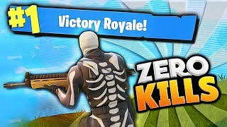 WINNING WITH NO KILLS!! (Fortnite Battle Royale Funny Moments)