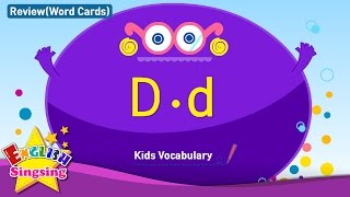 Kids vocabulary compilation - Words starting with D, d - Word cards - review - Learn English