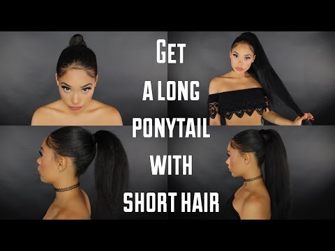 HOW TO : GET A LONG PONY TAIL WITH SHORT/MEDIUM HAIR