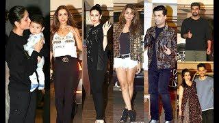 Kareena Kapoor Birthday Party 2017 - Malaika Arora Khan, Karishma Kapoor, Amrita Arora, Karan Johar