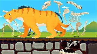 Dinosaur Park 2 Kids Games - Play Bones Of Animals During The Ice Age - Gameplay Android /ios