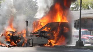 Parthenon Towers Camper Fire