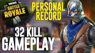 32 Kill Solo Squads!! Fortnite Battle Royale Gameplay - Ninja
