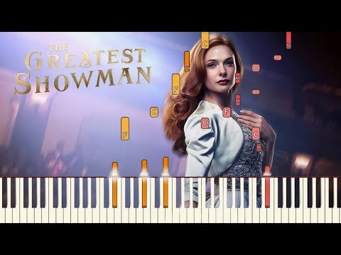 """The Greatest Showman - """"Never Enough"""" [Piano Tutorial] (Synthesia)"""