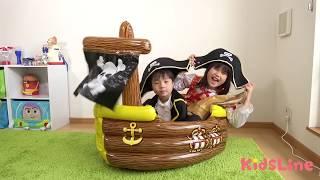 サメに食べられた!!! 海賊ごっこ 宝探し おもちゃ こうくんねみちゃん SHARKY