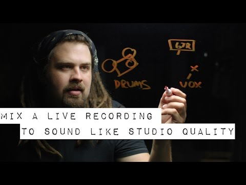Download How to Mix a Live Recording to Sound Like Studio Quality (Having Depth and Fullness)