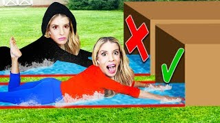 TWIN TELEPATHY SLIP N SLIDE Challenge in my BACKYARD!  | Rebecca Zamolo & Merrell Twins