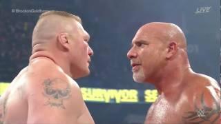 Goldberg vs. Brock Lesnar Survivor Series 2016 Full Match HD