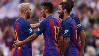 اهداف برشلونة واشبيلية 2-0 [ كاس السوبر الاسباني 2016 ] كاملة - تعليق محمد الشامسي HD