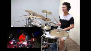 Caught Up - Usher (Aaron Spears Drum Cover. Side by Side)