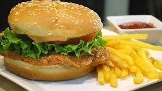 KFC Style Crispy Chicken Burger (Zinger Burger)
