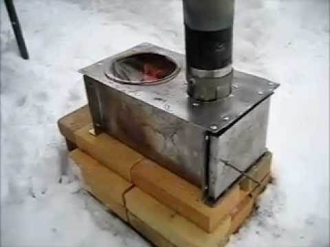 Rocket Stove Ideas 11 Horizontal cook stove.wmv