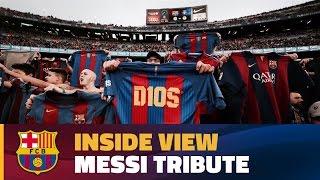 [BEHIND THE SCENES] Camp Nou hails Leo Messi on 500 goal milestone