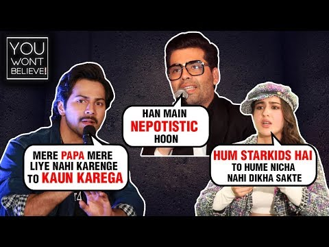 Xxx Mp4 Karan Johar Kangana Ranaut Sara Ali Khan Bollywood Stars Shocking Statements On NEPOTISM 3gp Sex
