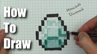 How to Draw a Minecraft Diamond - Step by Step
