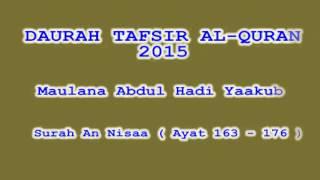 Daurah Tafsir Maulana Hadi   Sesi 93   Surah An Nisa   Ayat 163   176