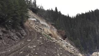 Elk City Landslide - West Company Inc. Boulder Reduction