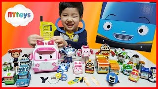 로보카 폴리 엠버 구급차 만들기 장난감 병원 놀이 거대 꼬마버스 타요 폴리 엠버 로이 헬리 친구들 뉴욕이랑 놀자 NY Toys