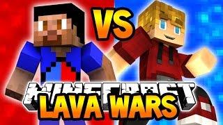 Minecraft LAVA WARS! (RED vs BLUE Lava)