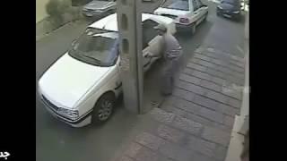 دزدی که در آرامش سرقت خود را انجام میدهد پژو 405