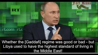 Putin & General Wesley Clark on destruction of the Middle East