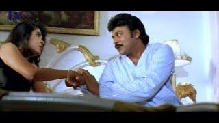 Chiranjeevi, Ramya Krishna Lip Lock - Romantic Scene - Iddaru Mitrulu Movie Scenes