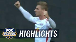 Timo Werner strikes first for RB Leipzig | 2017-18 Bundesliga Highlights