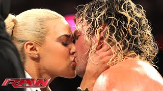 Lana kisses Dolph Ziggler: Raw, May 18, 2015