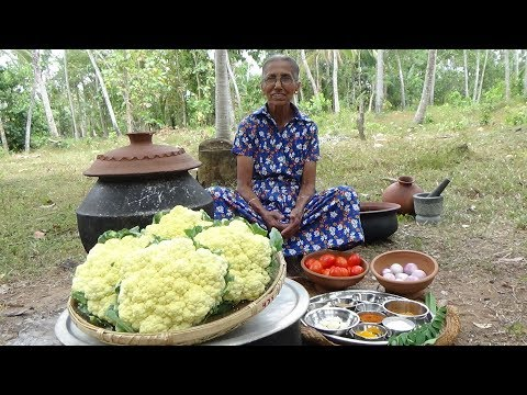Xxx Mp4 Cauliflower Masala Curry Prepared In My Village By Grandma Village Life 3gp Sex