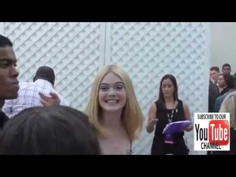 Elle Fanning greeting fans outside the Variety's Power Of Young Hollywood at NeueHouse Hollywood