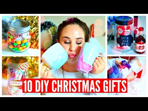 10 DIY CHRISTMAS GIFTS! Easy, Cheap, Cute!