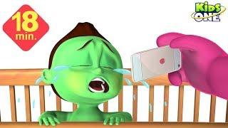 GREENY KIDDO Vs BEAR   Mr Bear wants to Sleep   GREENY KIDDO wants iPhone 7 - KidsOne
